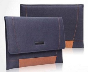 Blue leather Case for MacBook pro 12 inch