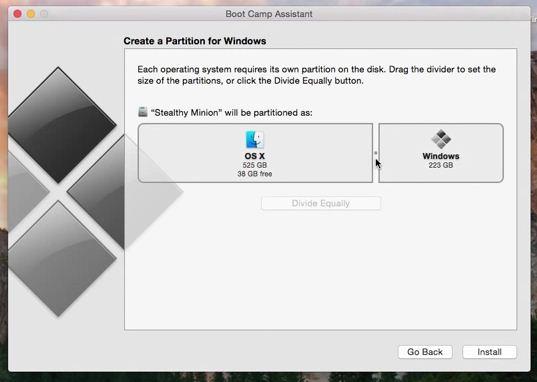 Install windows 8 on Mac OS X Yosemite