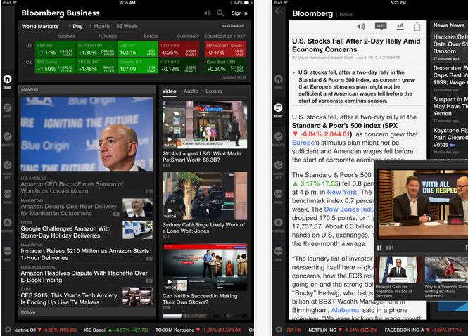 Bloomberg Stock Market Apps for iPhone