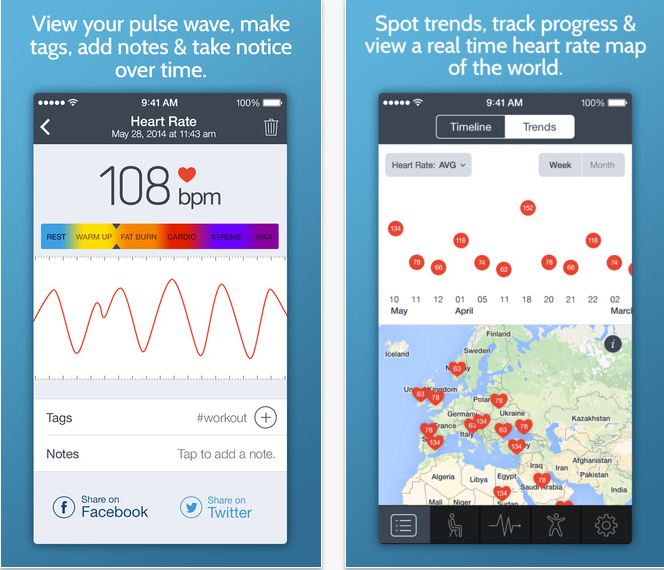 Instance heart rate monitor app for iOS 8