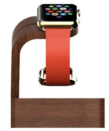 Wooden apple watch stand