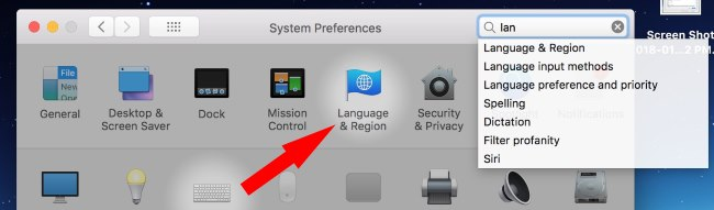 3 Language and Region add on Mac