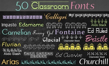Classroom Mac font style for OS X