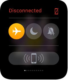 Enable Airplane mode using watch glance
