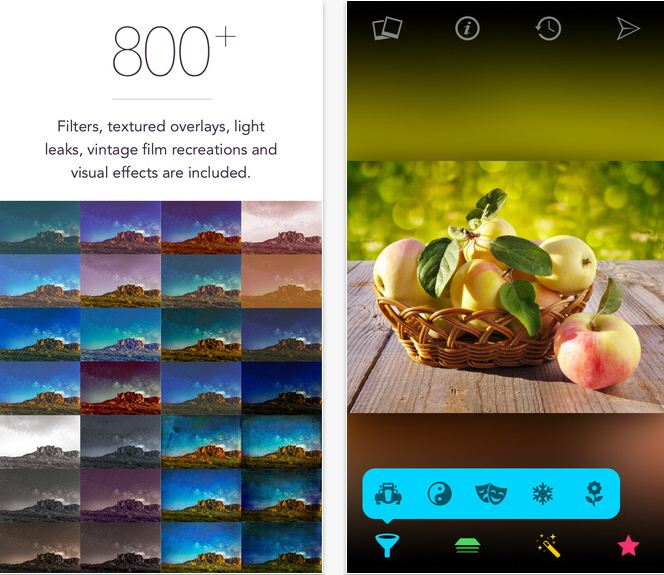 Filter App for iPhone and iPad