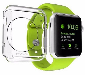 Glass rubber case for Apple watch 2015