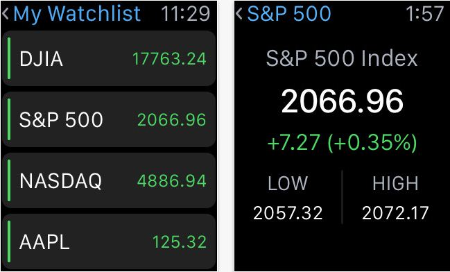 All in one app for stock market apple watch