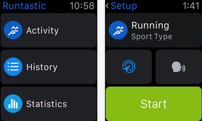 Runtastic Apple watch fitness apps