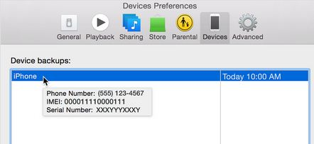 Get IMEI and Serial Number Find from device