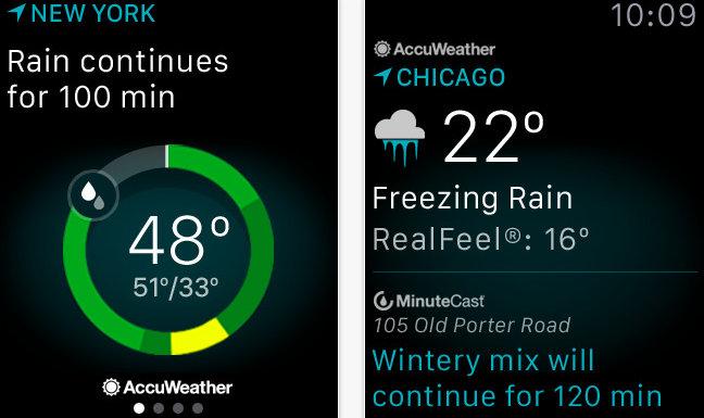 Best Weather widgets for Apple Watch