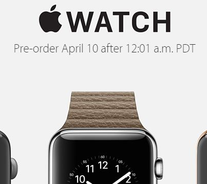 Pre order Apple watch 2015 April