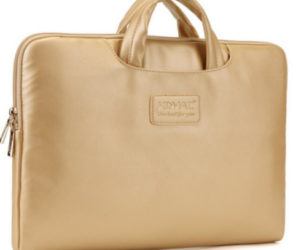 Golden color leather case for MacBook 12 inch