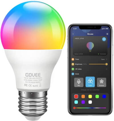 Govee App-Controlled Smart LED lamp 7W LED (60W)