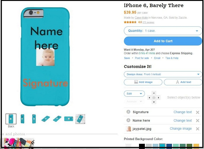 Order Custom case for iPhone 6 and iPhone 6 plus from Zazzle