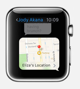 how to share location on apple watch