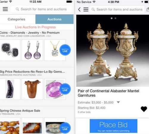 Best Live Auction apps for iPhone and iPad Air, iPad Mini