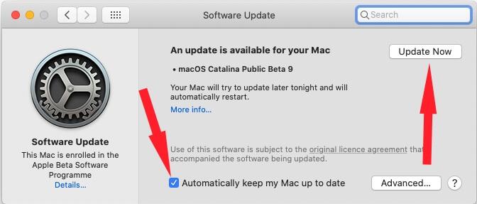 Update macOS X
