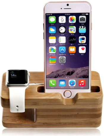 Wood Charger Stand for iPhone & Watch