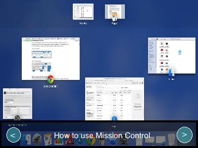 Mission control customization on OS X