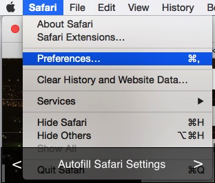 Autofill safari settings for Mac OS X