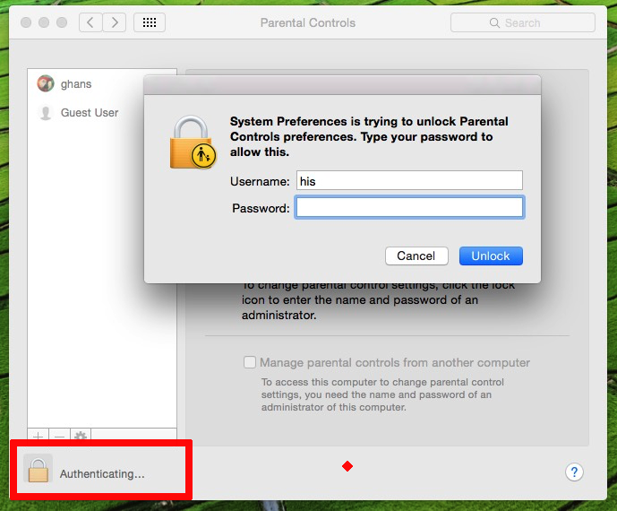 Verify your account permission for change settings