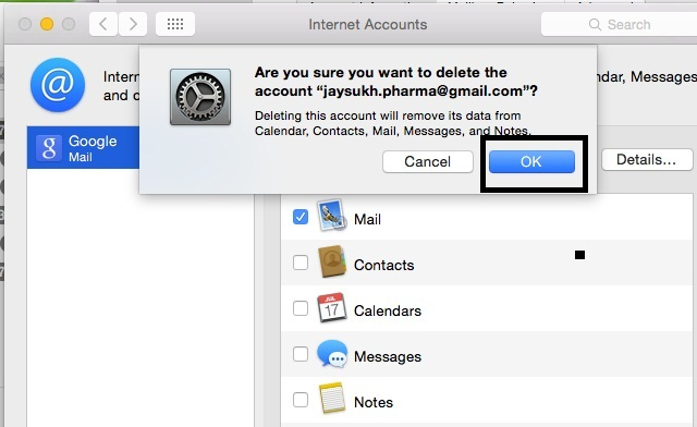 Completely remove mail data from mail app in OS X yosemite
