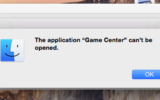 Message on cant able to access game center