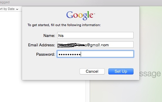Submit Valid gmail details