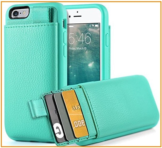 3 LAMEEKU iPhone 6 Wallet leather case