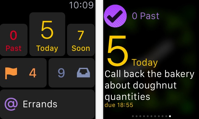 Best OmniFocus app for Apple watch