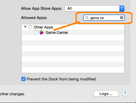 Easy to find with name: Enable Game Centre in Mac OS X
