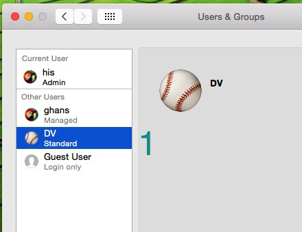 Create and delete user in Mac OS X created account