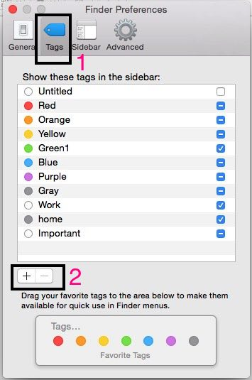change tag color and Name