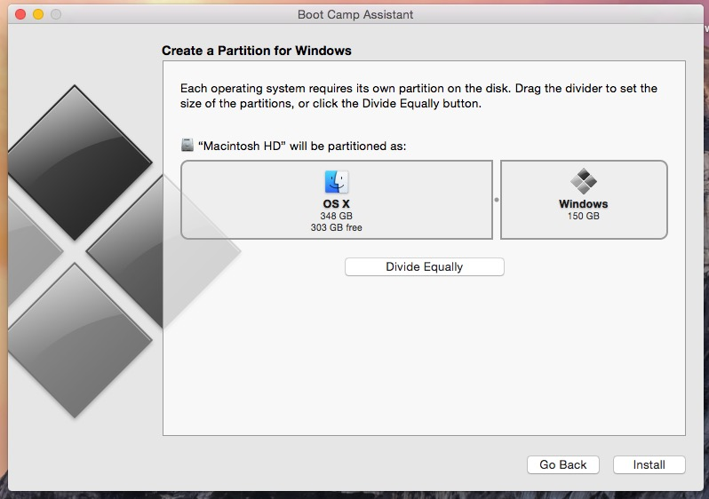 Enlarge partition on Mac for Windows 7