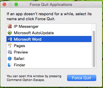 Force close all other application