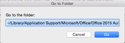 find MS office folder in finder