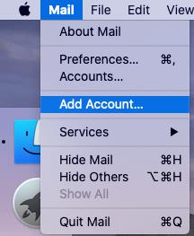 Add Account on Mac Mail App