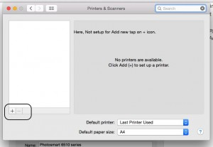 Printer not working on OS X Yosemite: reset and New Printer Setup On Mac