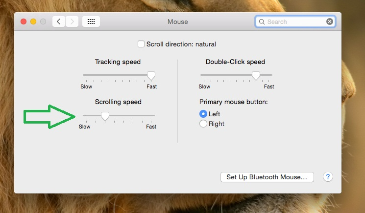 Adjust mouse speed on Mac and MacBook