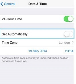 Turn auto update in iPhone, iPad, iPod touch