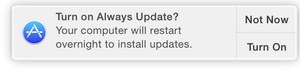 Notification on if any updates available