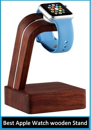 Best Apple Watch wooden charging Stand in Discount Price on Amazon
