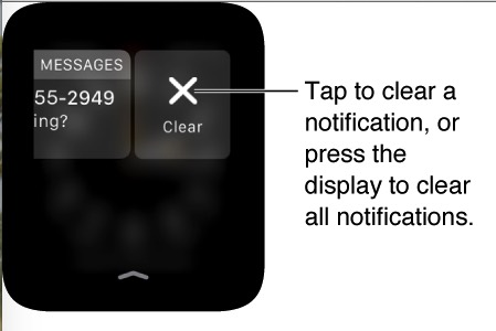 Clear notification on Apple watch
