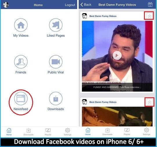 Simple way How to Download Facebook videos on iPhone 6 , iPhone 6 Plus , iPad Air and iPad Mini
