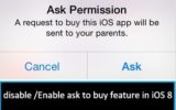How to Enable ask to buy feature in family sharing on iOS 8