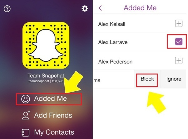 How to block Snapchat Friends on iPhone 6