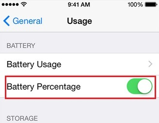 Alternate way to fix iPhone 6 plus does not showing battery percentage