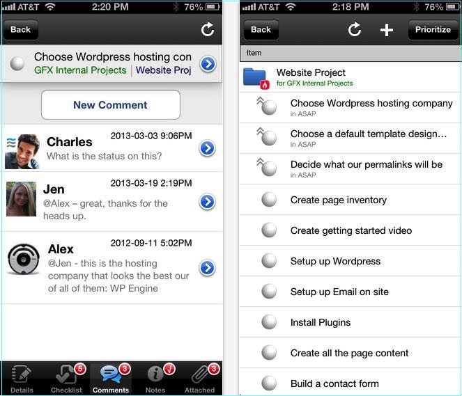 LiquidPlanner project management apps for iPhone