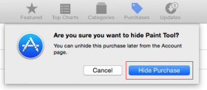 How to Unhide/ hide Purchased Apps in app store: Mac