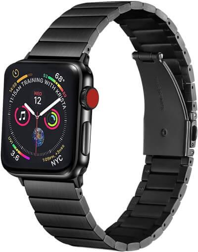 Posh Tech Black Finish Watch Band